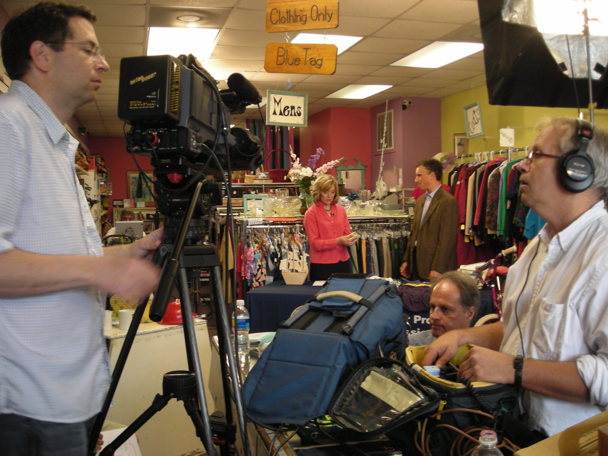 Consumer Products Safety Committee Films Training Video at the Pennyworth Shop